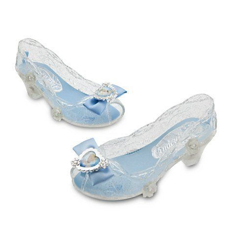 Disney Store Cinderella Glass Slipper Dress Up Costume Shoes Light Up Sparkle