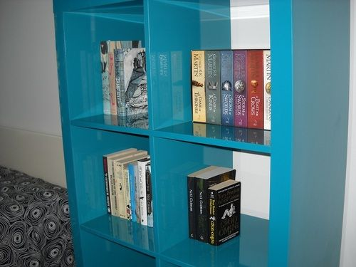 the interior to out i and panels place was modern on bookshelf going roughly turquoise of measured makeover shelves that as delicious diy well