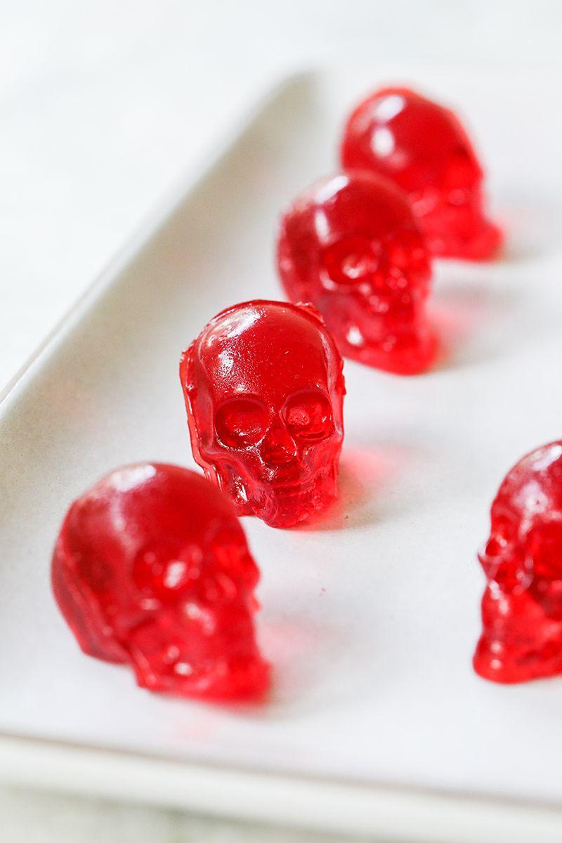 Skull Jello Shots #jelloshots