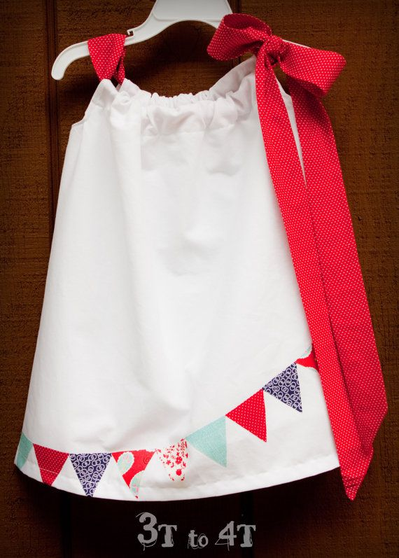4th of July Girls Bunting Dress or Top | MODA NIÑAS | Pinterest ...