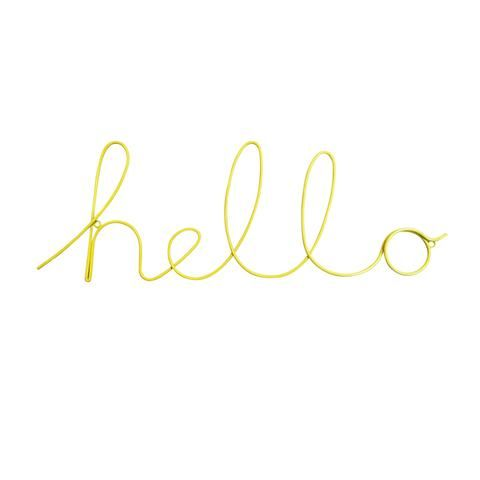 Hello Wire Word Wall Sign Color Script Script Words Wall Signs