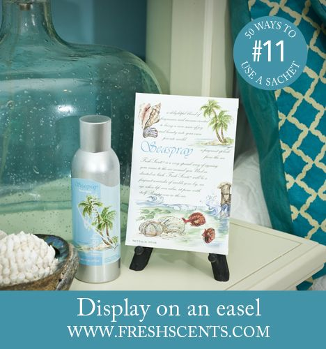 Display A Scented Sachet On An Easel To Add Fragrance