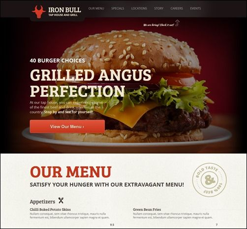 Awesome Cafe Coffee Shop And Diner WordPress Themes - Restaurant template wordpress