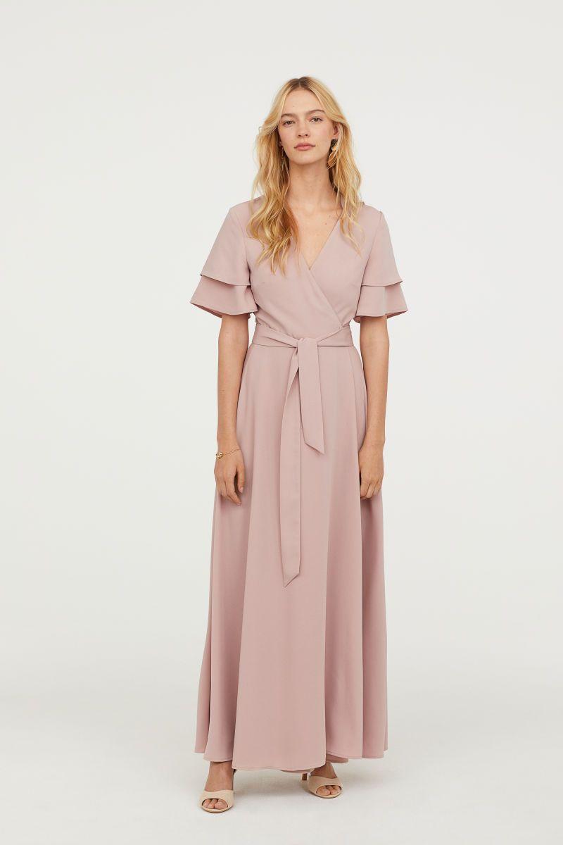 5cebb153a Wrap Dress | Powder pink | WOMEN | H&M US | Postpartum ...