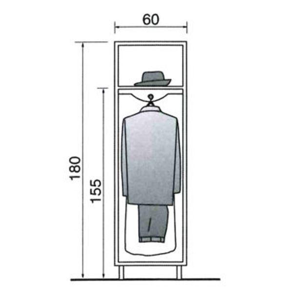 Dimension dressing dimension placard tous nos plans pour dessiner votre dr - Hauteur penderie dressing ...