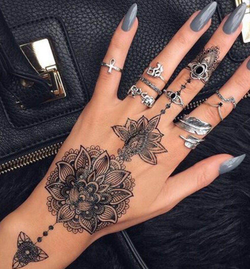 Beautiful Hand Tattoo Henna Tattoo Designs Tattoos Hand Tattoos