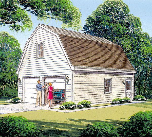 Garage Plan chp17550 – Gambrel Roof Garage Plans Free