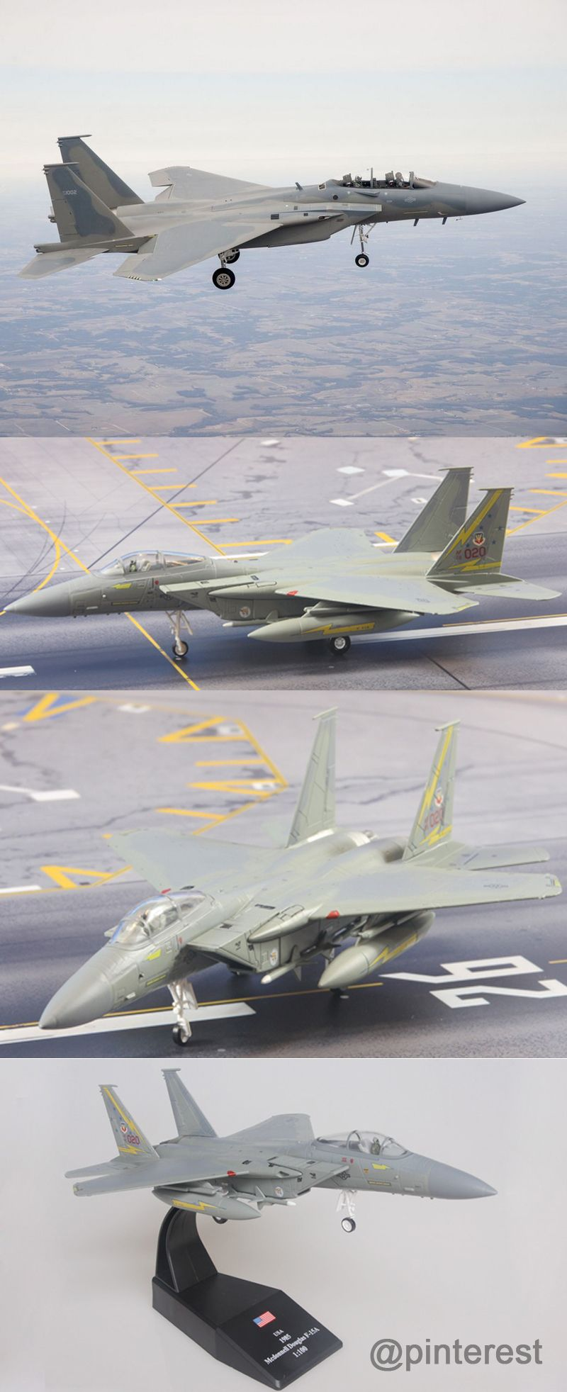 1:100 Scale Military Model Boeing F-15 Eagle Fighter Aircraft Model ...