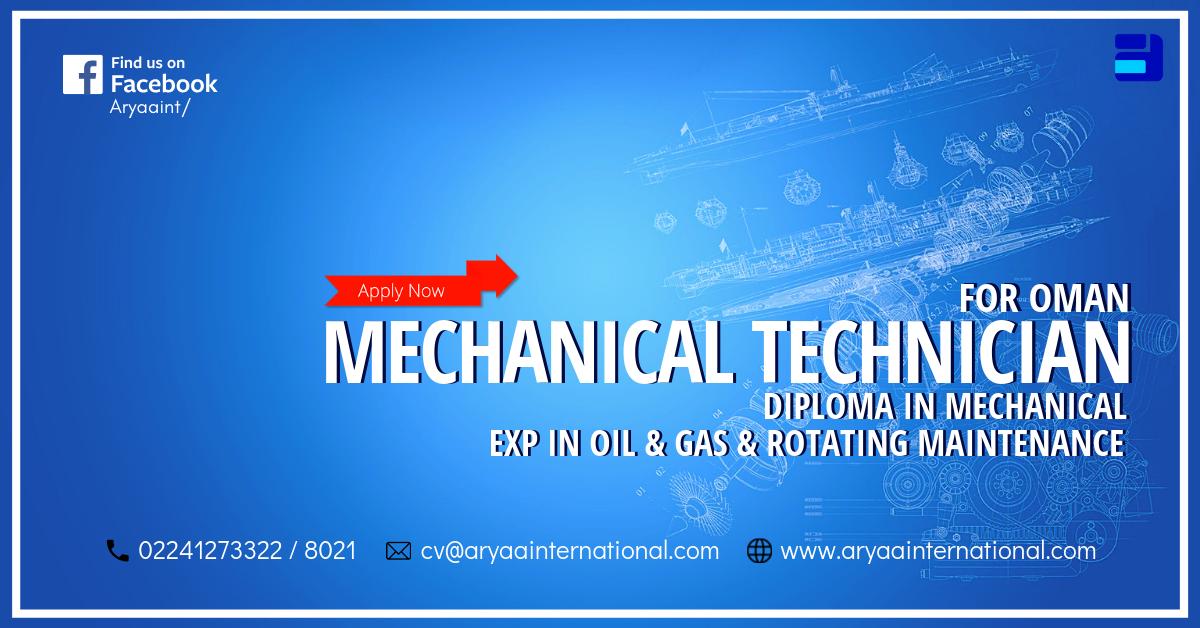 Mechanical Technician Mechanical technician, Technician