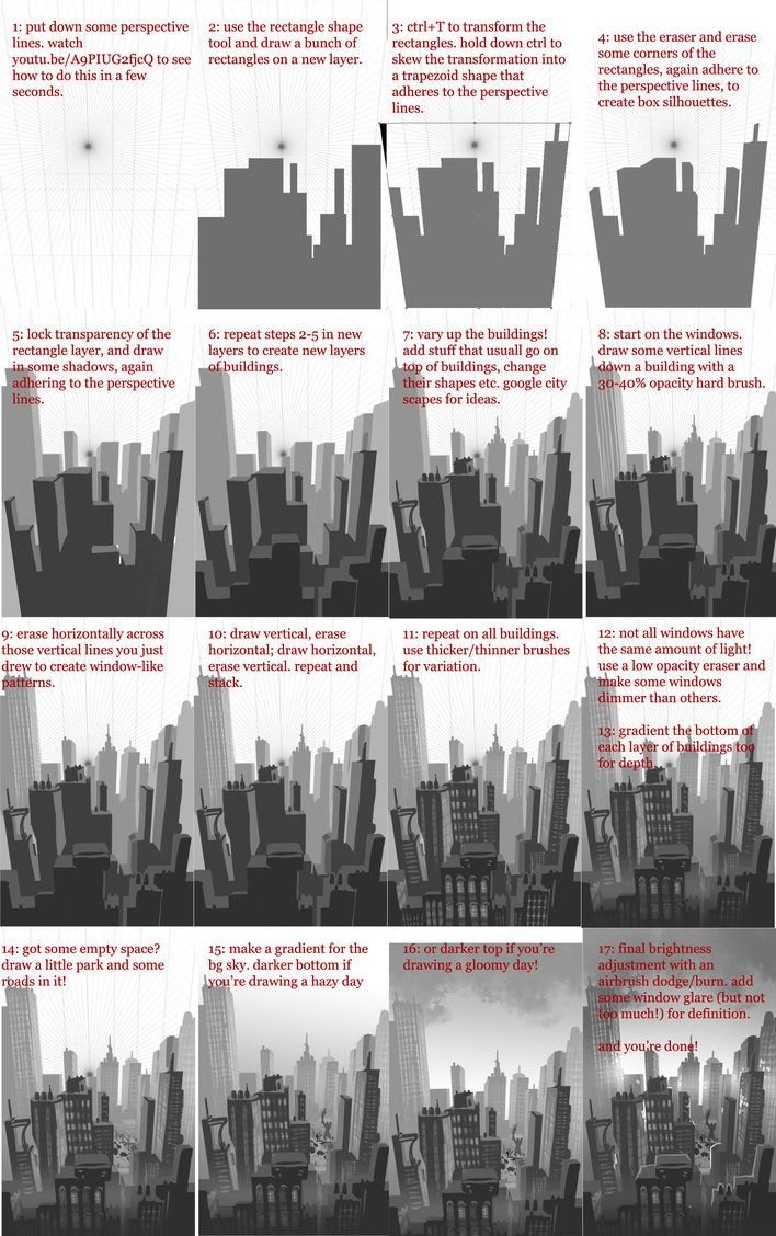 How To Draw A City Concept Art