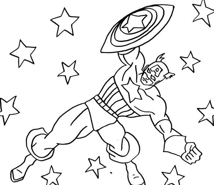 Cartoon Captain America Coloring Page   Captain America birthday ...