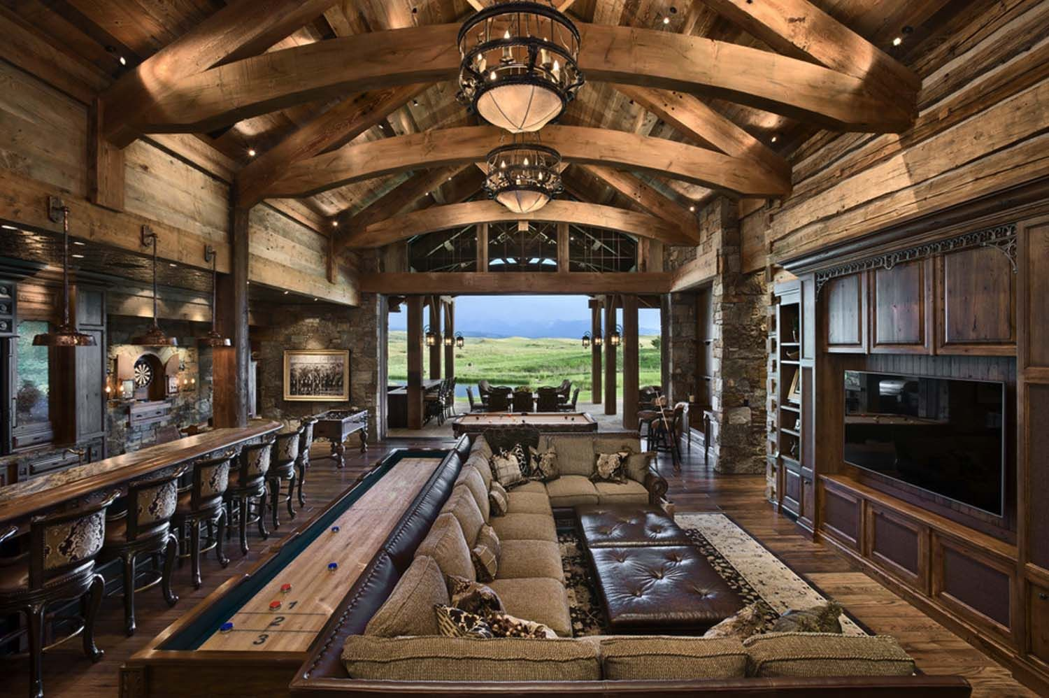 Rustic yet refined mountain home surrounded by Montana's ... on locati house plans, montana log home plans, montana log cabins,