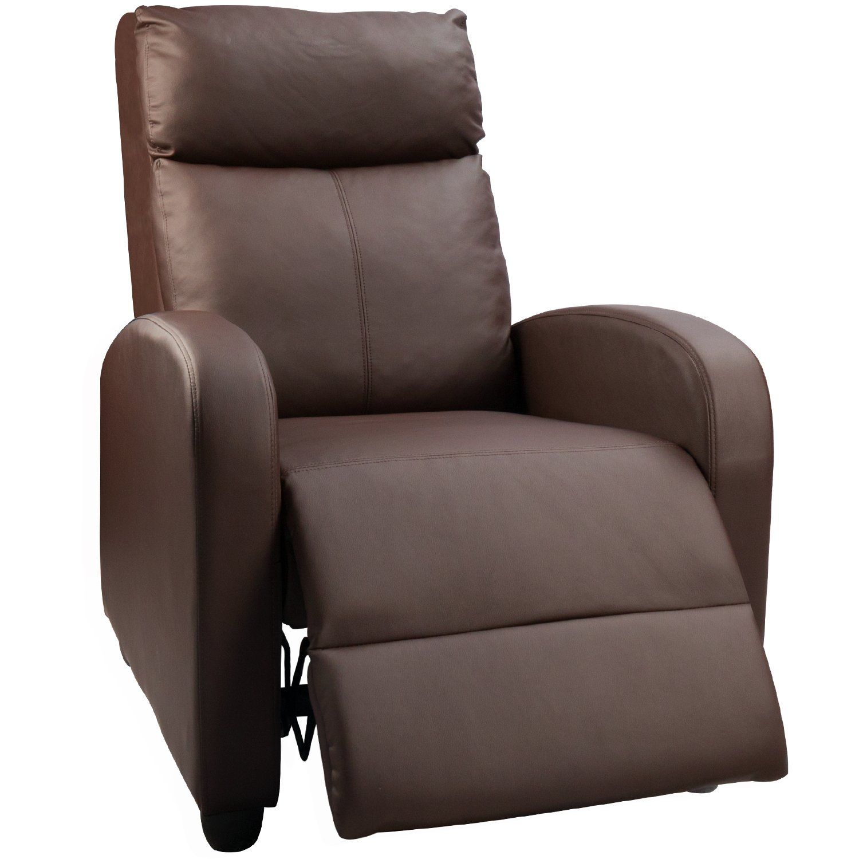 Devoko Adjustable Single Recliner Chair Pu Leather Modern Living