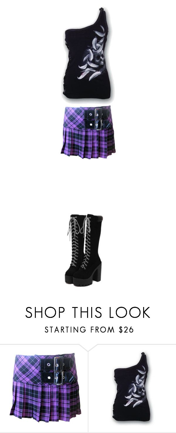 """""""Love me forever (!!!read description!!!)"""" by haruhinamikaze ❤ liked on Polyvore featuring Hell Bunny"""