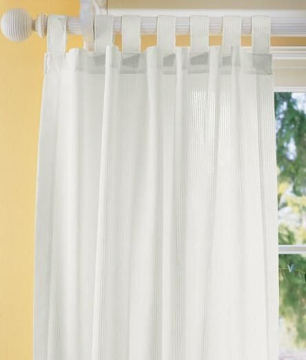 Sheer Curtains Striped Semi-Sheer Tab Panel - Country Curtains®