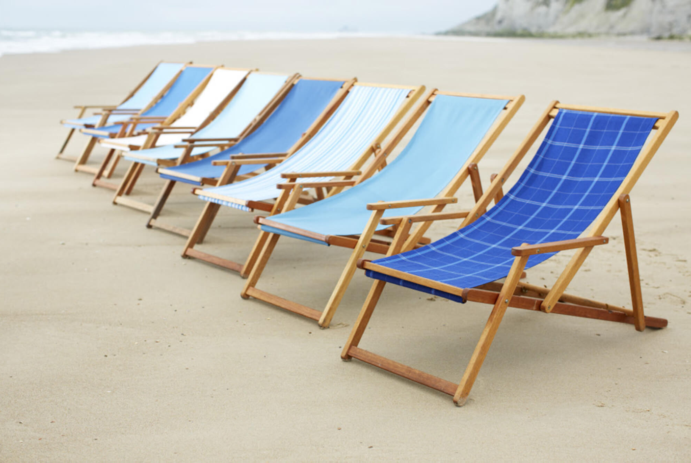 Blue Beach Chairs Made With Sunbrella In And Out