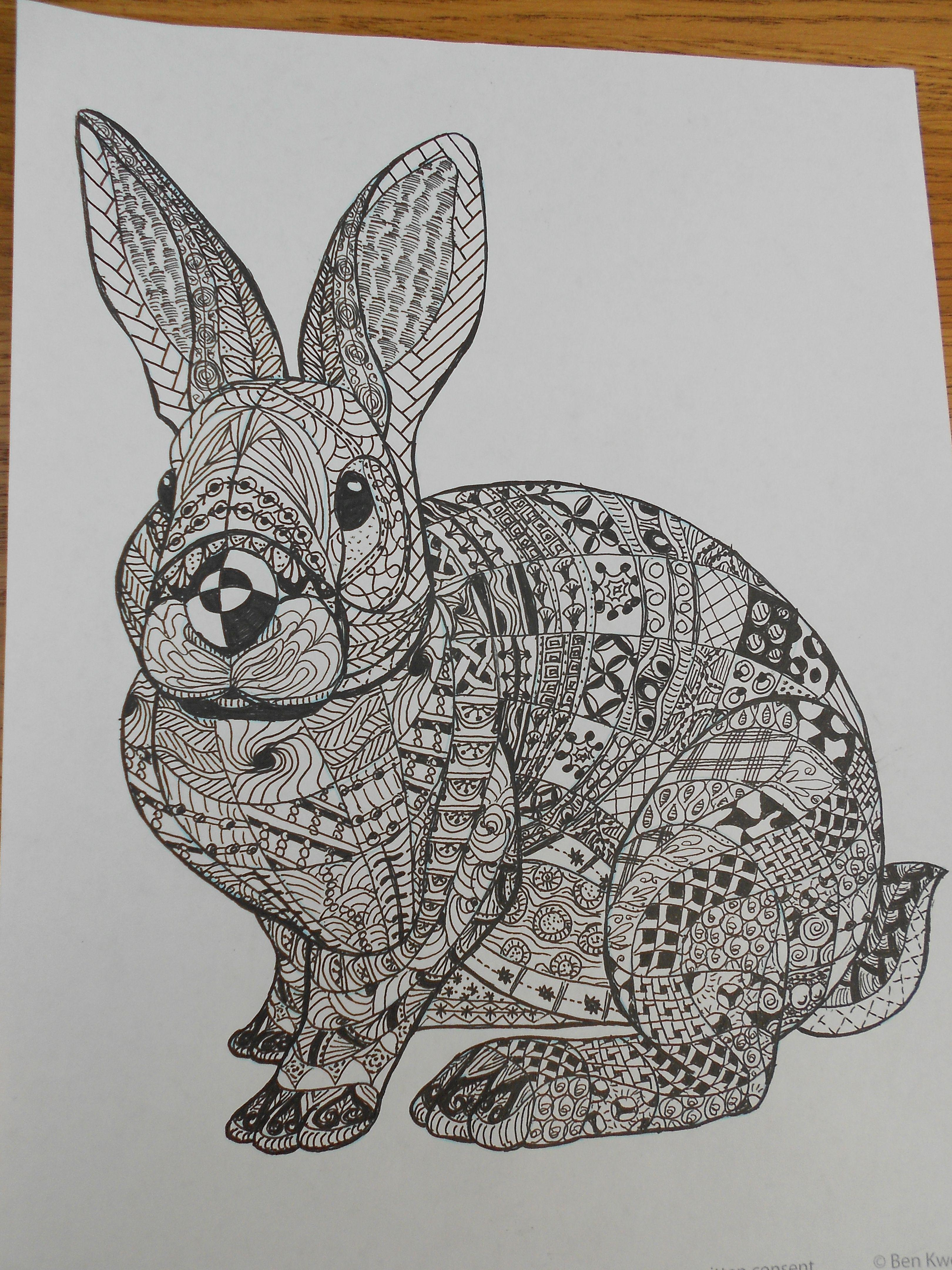 Zentangle Rabbit Homemade By Me Pinterest Best And Ideas