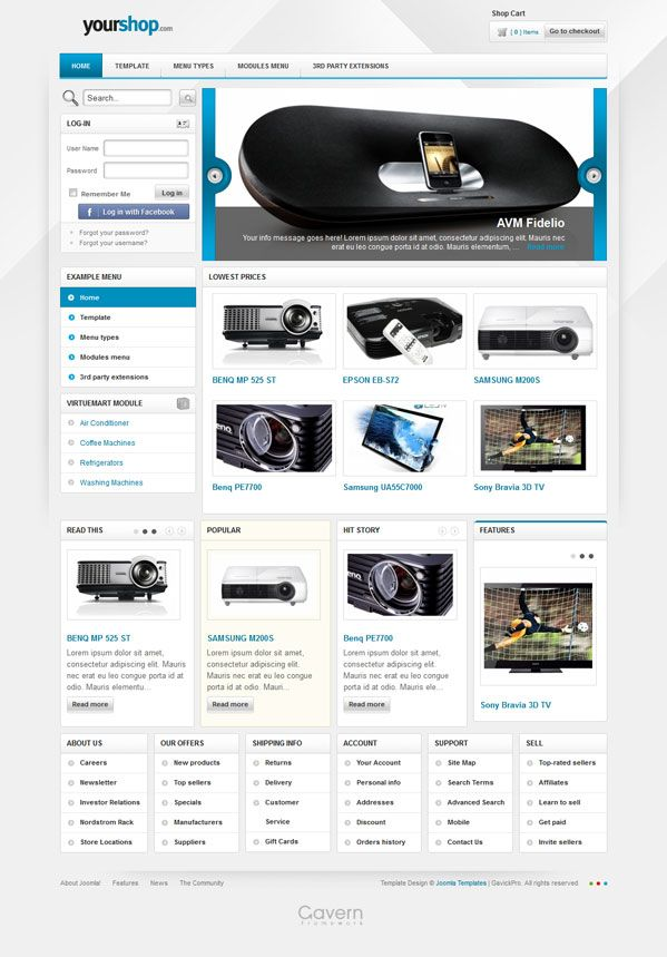 Joomla Shop Templates. veneno multipurpose joomla ecommerce ...