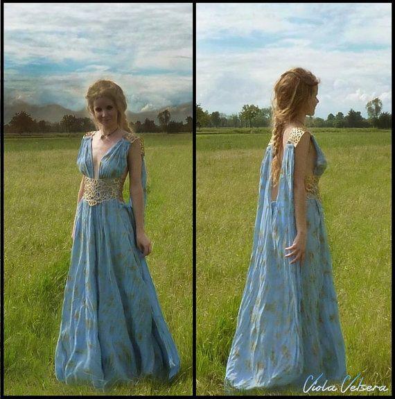 Game of thrones daenerys dress qarth costume by for Daenerys targaryen costume tutorial