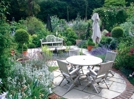 Terrace / Garden at the Milsoms Hotel Essex UK Hotel