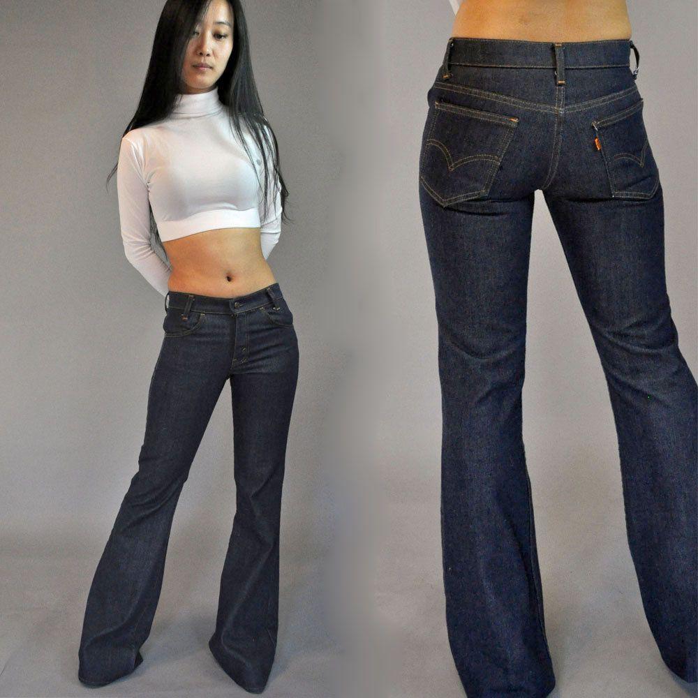 70s vintage LEVIS Bell Bottom Jeans Hip Hugger Jeans / 1970s LEVI ...