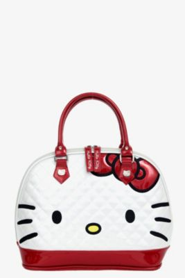 9505001160ee Loungefly - Hello Kitty White   Red Patent Dome Bag