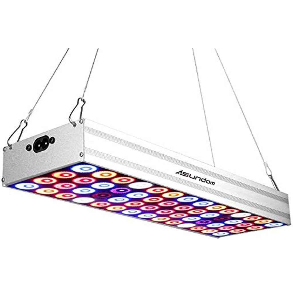 Asundom Lampe De Croissance Panneau Spectre Complet 50w Lampe Pour Plante En Aluminium Qui A Ete Fait A Lampe Pour Plante Plante Interieur Culture Hydroponique