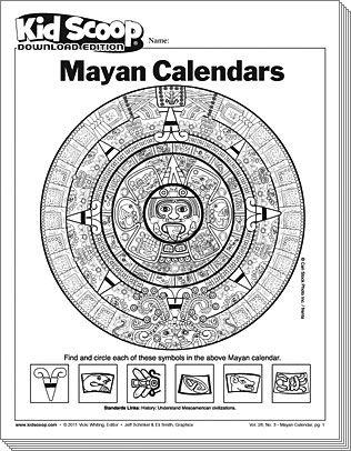 Mayan Calendar Kids Calendar Calendar Activities Mayan History