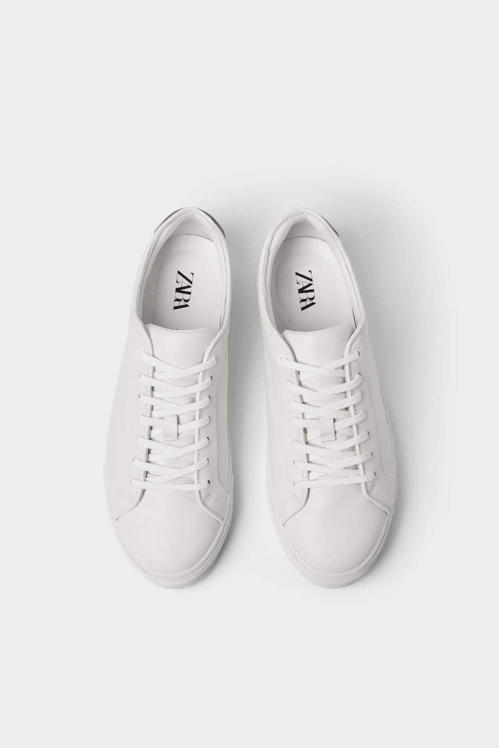 WHITE LEATHER SNEAKERS - Shoes-MAN