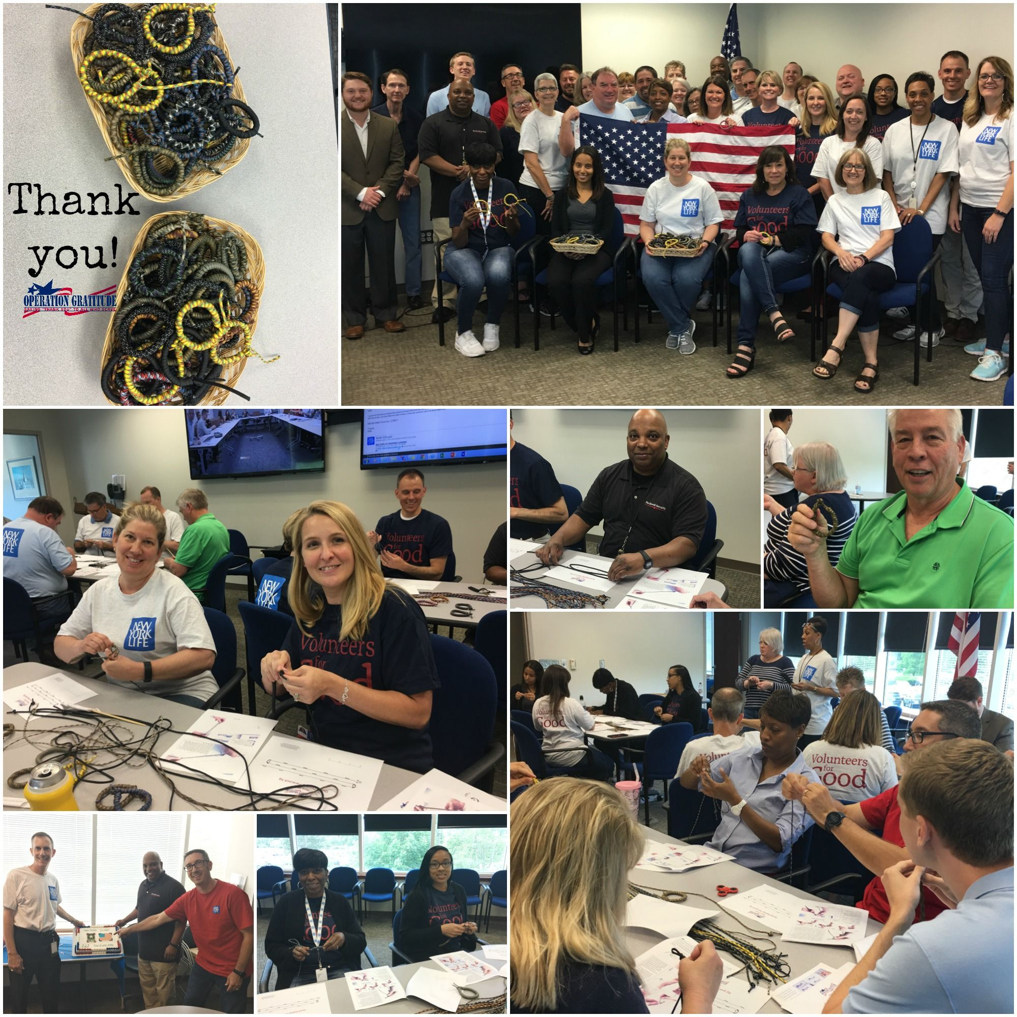 We Want To Say Thank You To The New York Life Insurance Company Volunteers In Kansas City And New Life Insurance Companies New York Life Operation Gratitude