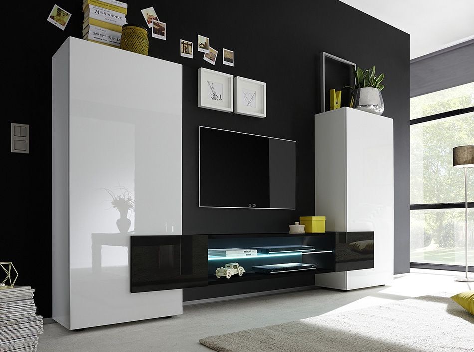 Lcmobili ~ Modern tv stand incastro low black by lc mobili tv pinterest