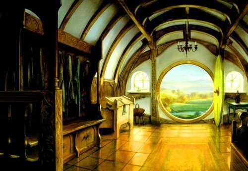 Der Hobbit Wandaufkleber Hobbit Fenster