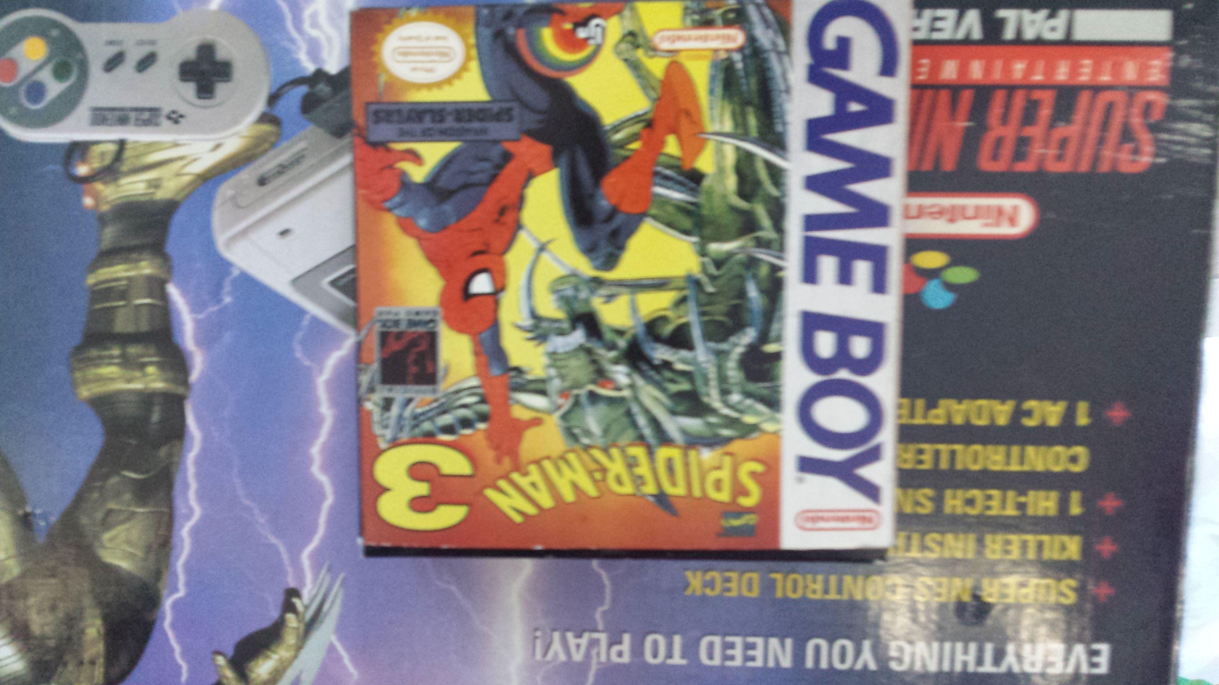 spider man 3 game boy nintendo