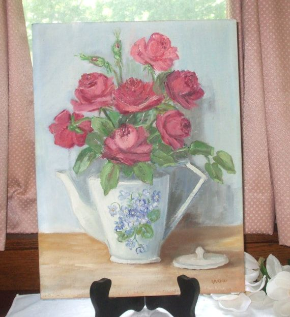 Vtg. Student Oil Painting  1977 by BlueVinylVintage on Etsy, $17.99