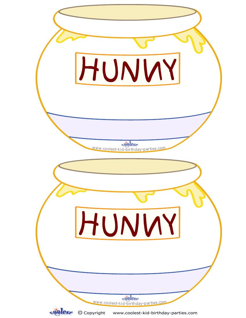 a nice idea is to send out invitations in the shape of honey pots