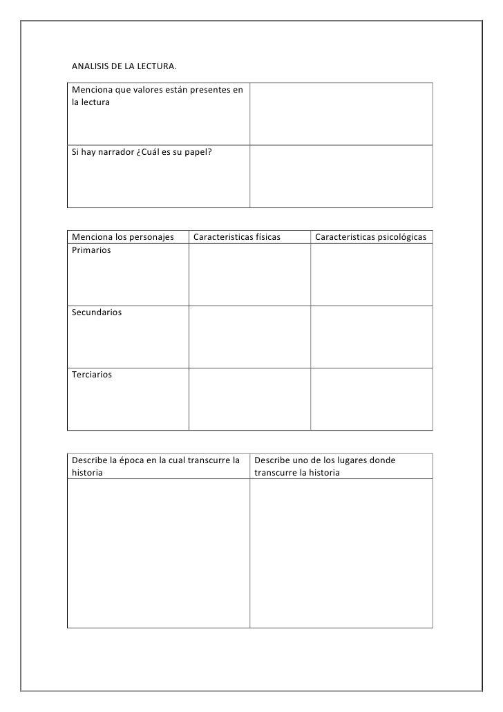 Formato Reporte De Lectura Secundaria Todos Los Grados Reporte De Lectura Estrategias De Lectura Evaluacion De Lectura