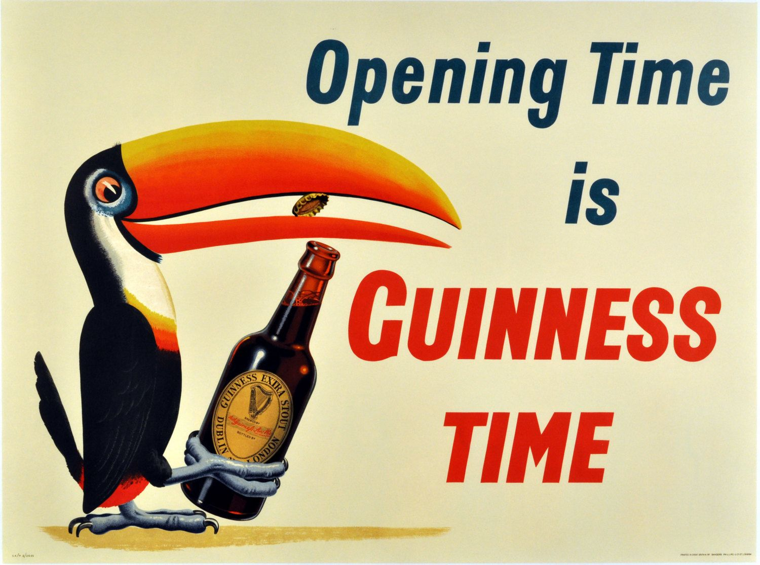 Guinness Time Advertising Toucan Poster Home Decor Wall Decor Giclee ...