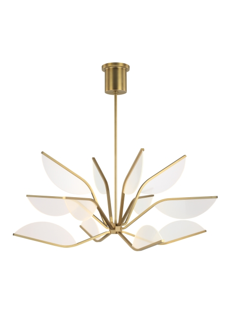 The Belterra Chandelier By Tech Lighting Is Inspired By The Lotus Flower Petal Shaped Led Light Guides B In 2020 Tech Lighting Geometric Chandelier Cluster Chandelier
