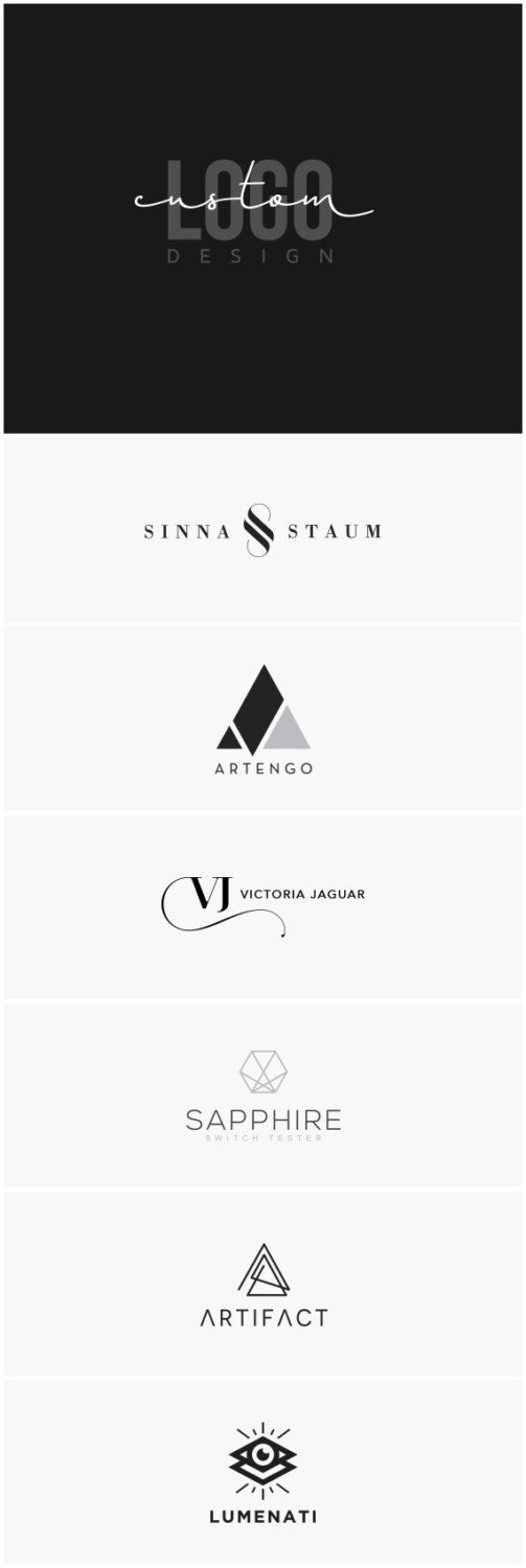 Custom Logo Design Custom Logo Design Package Logo Branding | Etsy