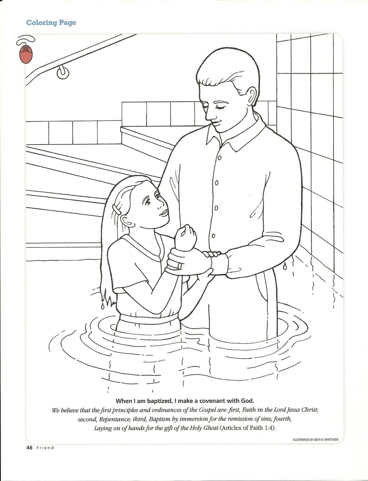girl baptism | CHURCH | Pinterest | Primary lessons and Journal