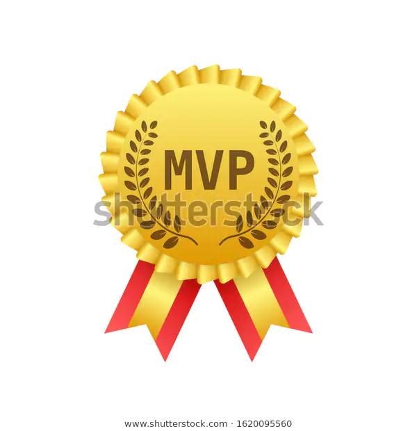 Mvp Gold Medal Award On White Stock Vector Royalty Free 1620095560 Royalty Free Gold Medal Stock Vector