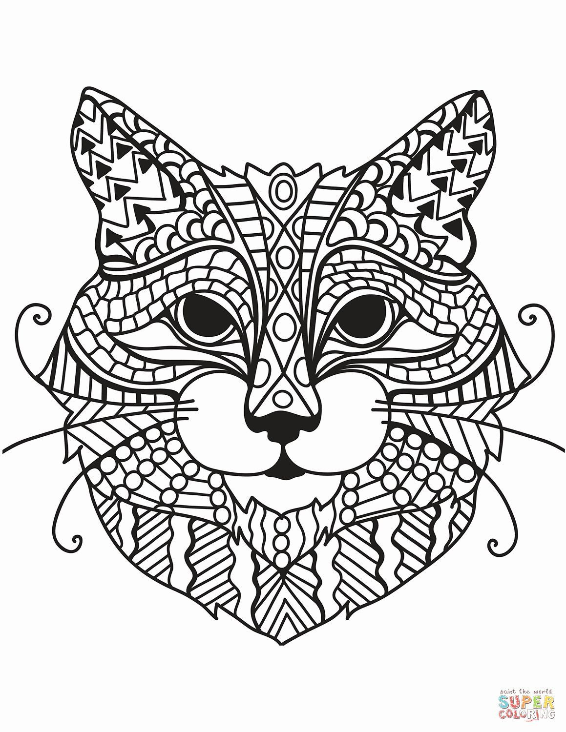Pin On Cat Coloring Page [ 1500 x 1159 Pixel ]