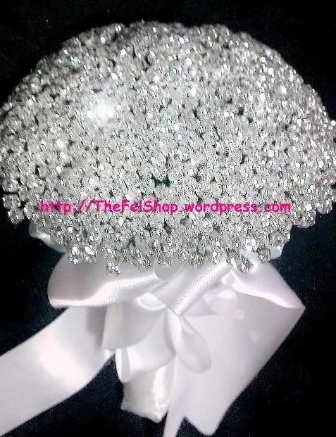 Swarovski Crystal Wedding Bouquet Crystal Theme For Wedding
