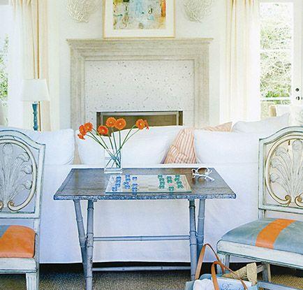 Orange Chairs, Den Furniture,