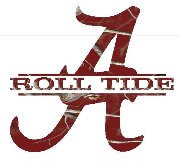 Roll tide alabama split letter logo car truck decal for Alabama football mural