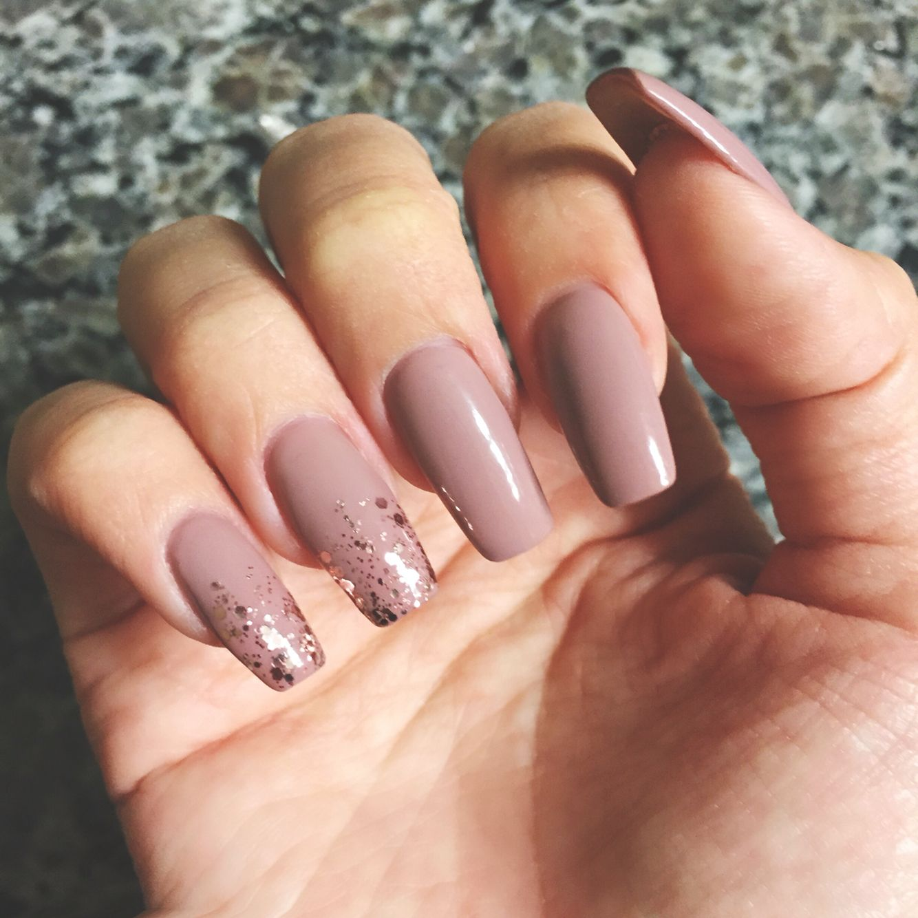 Long Blush Nails - Essie \'Ladylike\' with Essie \'A Cut Above ...