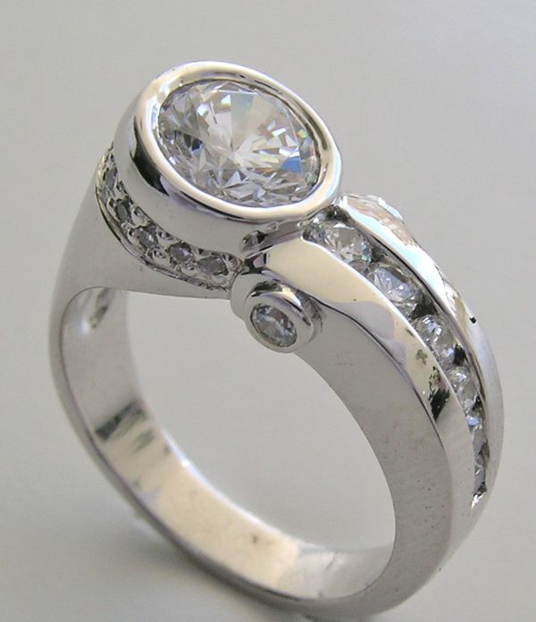 contemporary diamond engagement rings engagement ring settings - Wedding Ring Settings