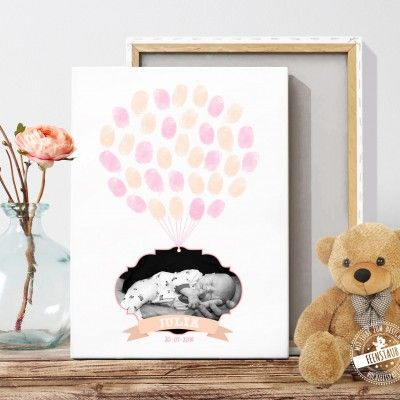 taufbaum mit babyfoto und fingerabdr cken. Black Bedroom Furniture Sets. Home Design Ideas