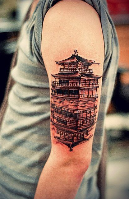 cool chinese pagoda tattoo ideas for men 99 tattoo art inspiration tattoo ideas pinterest. Black Bedroom Furniture Sets. Home Design Ideas