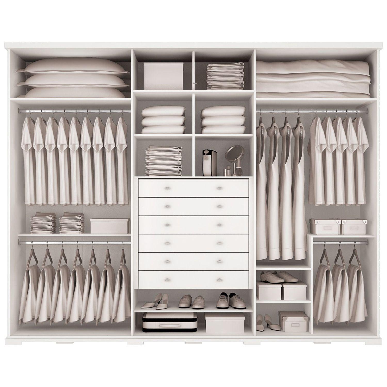 Guarda Roupa Jatob 6 Portas Henn Branco Closet Organization  ~ Organizacion De Armarios Empotrados